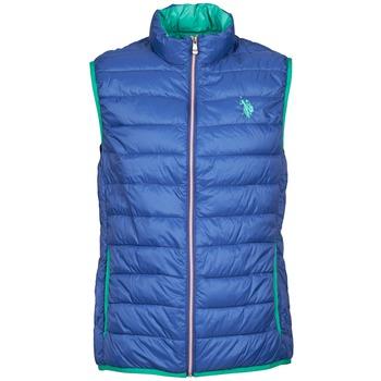 Clothing Men Duffel coats U.S Polo Assn. USPA LT PADDED VEST Blue