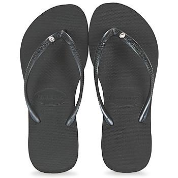 Shoes Women Flip flops Havaianas SLIM CRYSTAL GLAMOUR Black