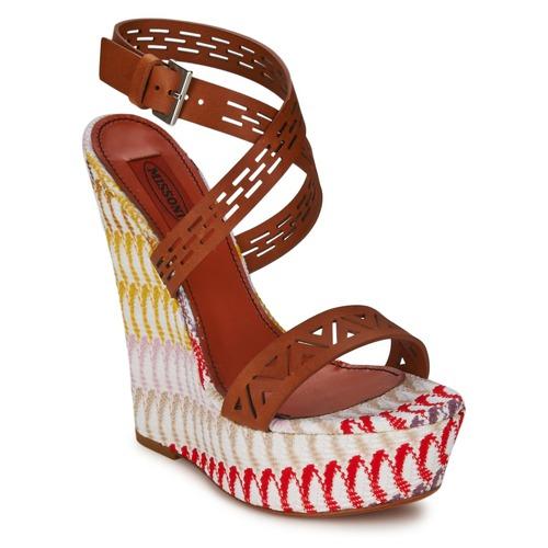 Shoes Women Sandals Missoni XM015 Brown / Multicolour