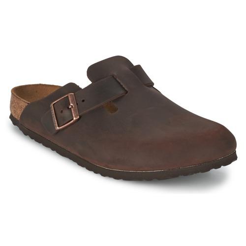 Shoes Men Clogs Birkenstock BOSTON PREMIUM Brown
