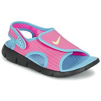 Shoes Girl Sandals Nike SUNRAY ADJUST 4 Pink / Blue