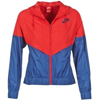 Clothing Women Macs Nike WINDRUNNER Marine / Red