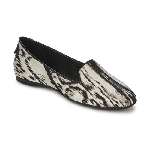 Shoes Women Flat shoes Roberto Cavalli XPS280-FLA35 Beige / Black