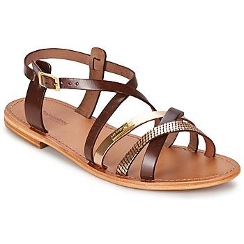 Shoes Women Sandals Les Tropéziennes par M Belarbi HAPAX Brown / Gold