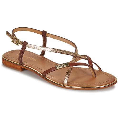Shoes Women Sandals Les Tropéziennes par M Belarbi MONACO Tan / Gold