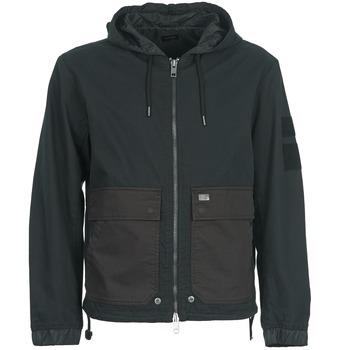 Clothing Men Jackets Diesel J-DAN-MIX Black / Brown