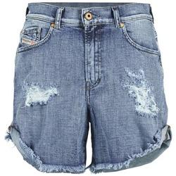 Clothing Women Shorts / Bermudas Diesel DE SCOTT Blue