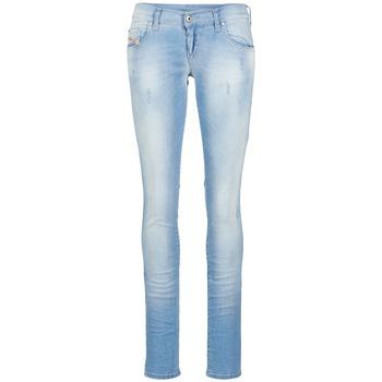 Clothing Women slim jeans Diesel GRUPEE Blue