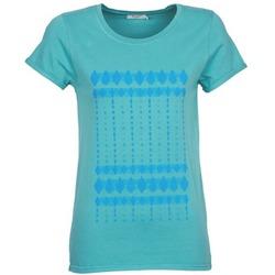 Clothing Women short-sleeved t-shirts Kulte JULIETTE BATIK Blue