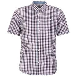 Clothing Men short-sleeved shirts Tom Tailor CATHARINI White / Red / Black