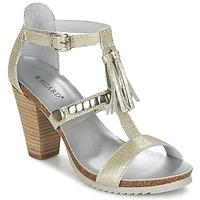 Shoes Women Sandals Regard ROKOLO Platinum