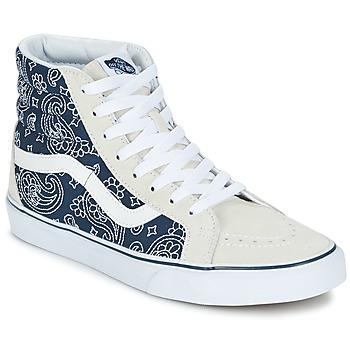 Shoes Hi top trainers Vans SK8-HI REISSUE Bandana / White / Blue