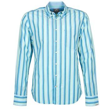 Clothing Men long-sleeved shirts Gaastra SUMMERJAM Blue / White