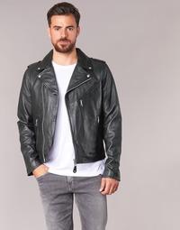 Clothing Men Leather jackets / Imitation leather Schott LEVOQ Black