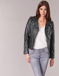 Clothing Women Leather jackets / Imitation leather Schott SIMOUDE Black