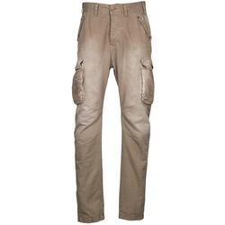Clothing Men Cargo trousers Freeman T.Porter PUNACHO COTTON GAB CHOCOLATE CHIP Brown / BEIGE