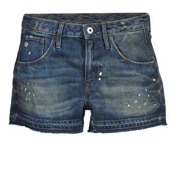 Clothing Women Shorts / Bermudas G-Star Raw ARC BF RIPPED SHORT WMN Blue / Dark