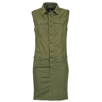 Clothing Women Short Dresses G-Star Raw ROVIC SLIM DRESS WMN S/LESS KAKI