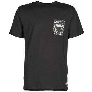 Clothing Men short-sleeved t-shirts DC Shoes WOODGLEN Black