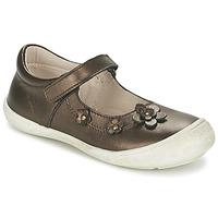Shoes Girl Flat shoes Citrouille et Compagnie MELINA BIS GUNMETAL