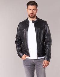 Clothing Men Leather jackets / Imitation leather Oakwood CASEY Black