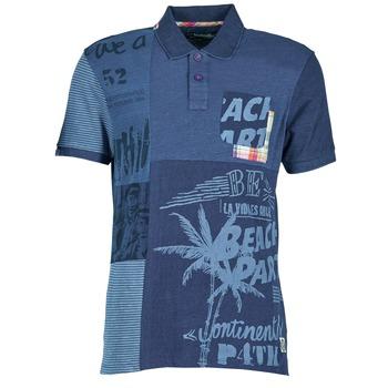 Clothing Men short-sleeved polo shirts Desigual BELUDINE Blue