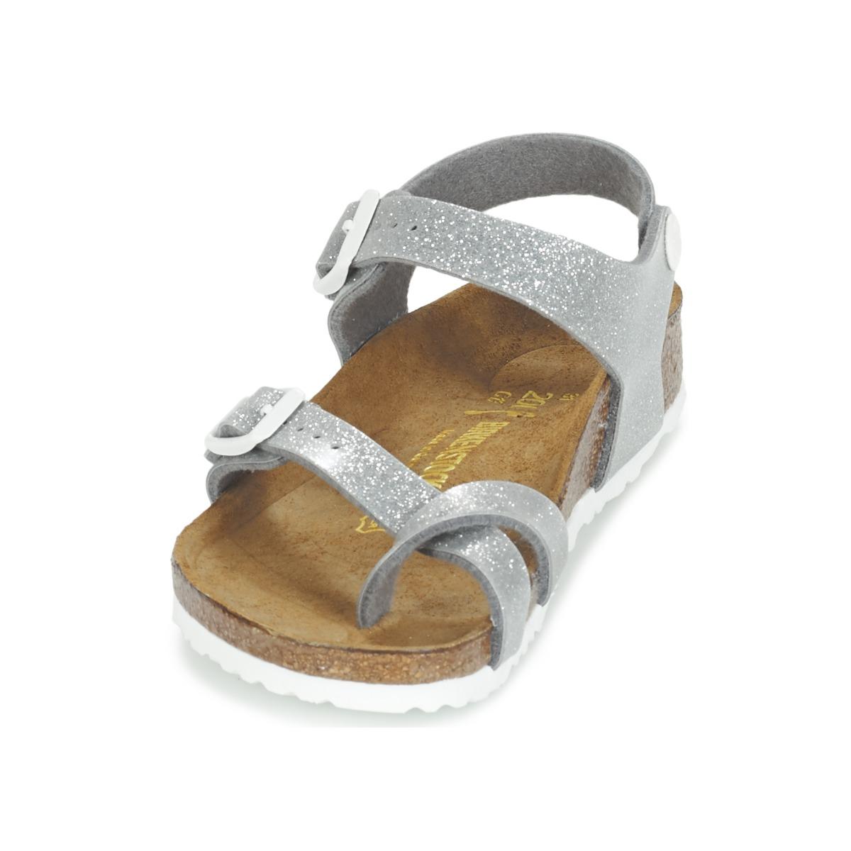 Birkenstock TAORMINA Silver Shoes Sandals Child hot sale 2017 ... d8293870867