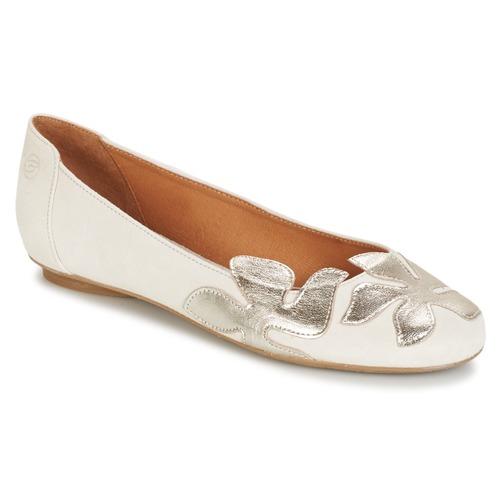Shoes Women Flat shoes Betty London ERUNE White / Silver