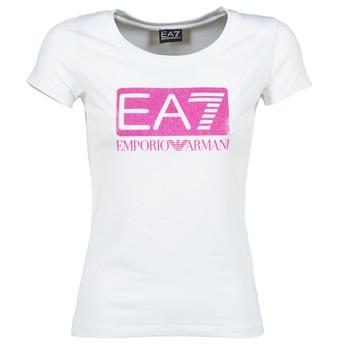 Clothing Women short-sleeved t-shirts Emporio Armani EA7 BEAKON White