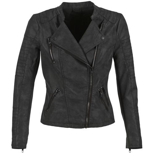 Clothing Women Leather jackets / Imitation leather Only AVA Black