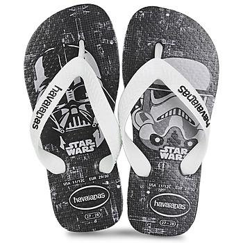 Shoes Boy Flip flops Havaianas STAR WARS Black / White
