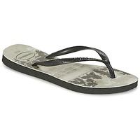 Shoes Women Flip flops Havaianas SLIM PHOTOPRINT Black