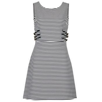 Clothing Women Short Dresses Morgan RMARI MARINE / ECRU