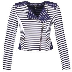 Clothing Women Jackets / Blazers Morgan VMEL MARINE / White