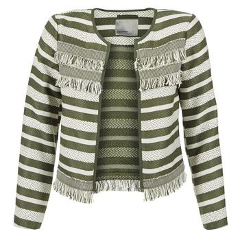 Clothing Women Jackets / Blazers Vero Moda FRILL Kaki / Ecru