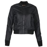 Clothing Women Jackets Schott BOMBER BY SCHOTT Black