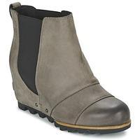 Shoes Women Ankle boots Sorel LEA WEDGE Grey / Dark