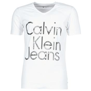 Clothing Men short-sleeved t-shirts Calvin Klein Jeans TEMPEST VN SLIM FIT White