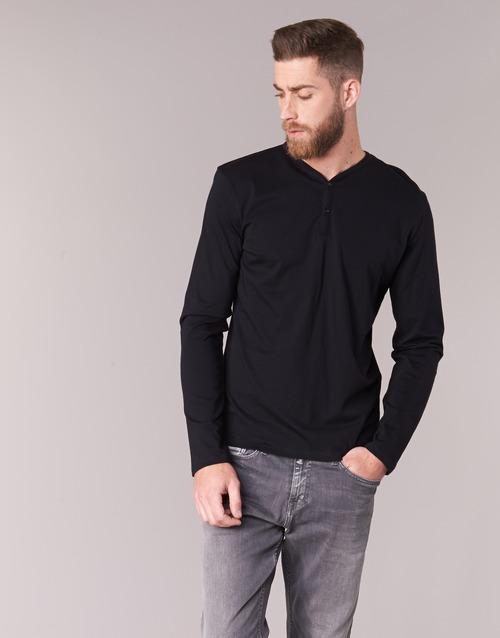 Clothing Men Long sleeved tee-shirts BOTD ETUNAMA Black