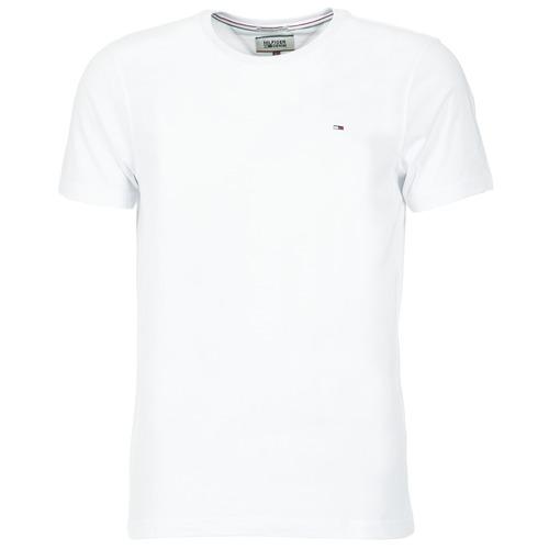 Clothing Men Short-sleeved t-shirts Tommy Jeans OFLEKI White