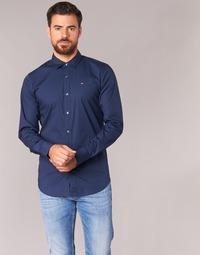 Clothing Men Long-sleeved shirts Tommy Jeans KANTERMI Marine
