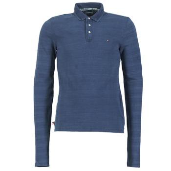 Clothing Men long-sleeved polo shirts Hilfiger Denim KORIKO Blue