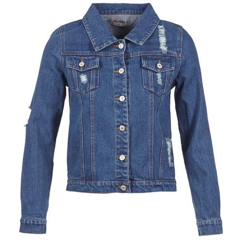 Clothing Women Denim jackets Yurban ESPINALE Blue / Dark