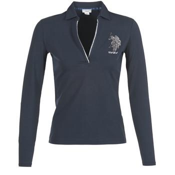 Clothing Women long-sleeved polo shirts U.S Polo Assn. CRISTINE MARINE