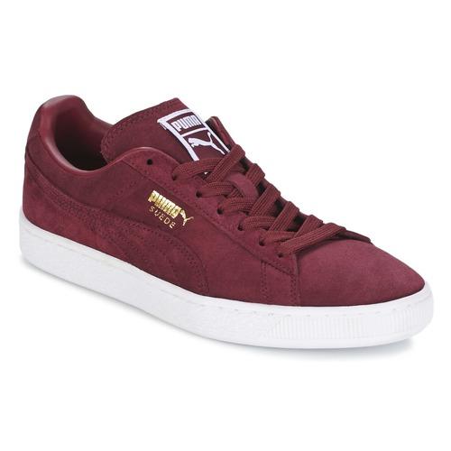 Shoes Men Low top trainers Puma SUEDE CLASSIC + Bordeaux