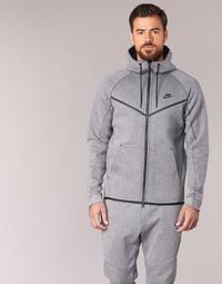 Clothing Men Jackets Nike TECH FLEECE WINDRUNNER HOODIE Grey