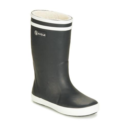 Shoes Children Wellington boots Aigle LOLLY POP FUR Marine
