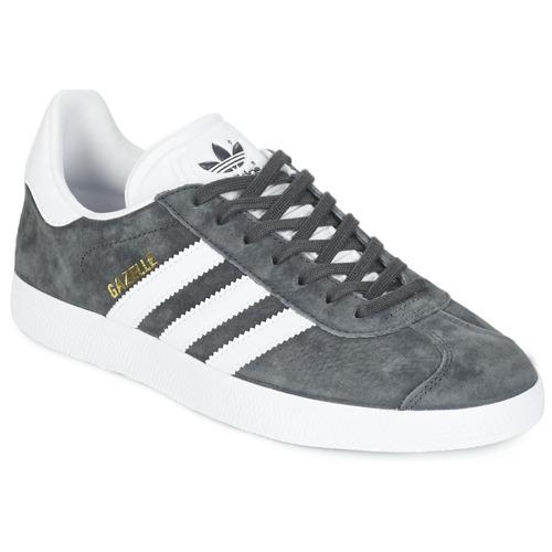 Shoes Low top trainers adidas Originals GAZELLE Grey / Dark