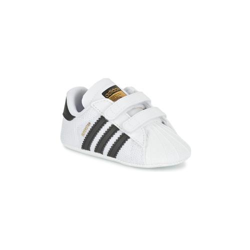 Shoes Children Low top trainers adidas Originals SUPERSTAR CRIB White