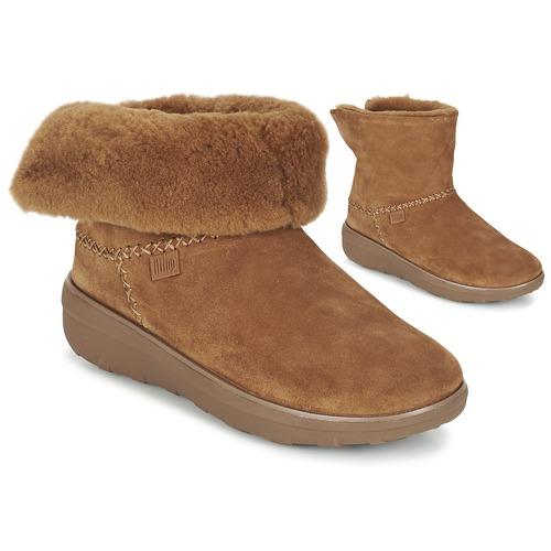 Shoes Women Mid boots FitFlop SUPERCUSH MUKLOAFF SHORTY Hazelnut